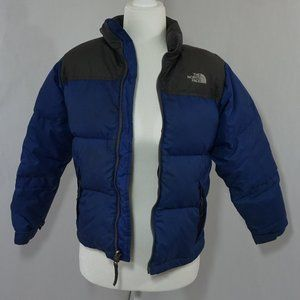 North Face Boys Puffer Goose Down Blue Jacket